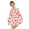 Девочки Весна Летнее платье 2018 Новое прибытие Повседневный длинный рукав Loose Patchwork Ruffle Midi Платья для девочек Детская одежда платья для девочек платья для девочек