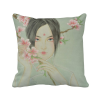 Peach Blossom Beauty Chinese Watercolor Polyester Toss Throw Pillow Square Cushion Gift парфюмированная вода tommy hilfiger peach blossom