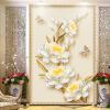 Пользовательские Фото Mural 3D Роскошные Золотые украшения Роза Цветок Европейский стиль Вход Фон Декор Дышащие Нетканые обои