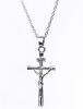 Мода сплава розового золота Иисус ожерелье для подруги, крест ювелирные изделия ожерелья для женщин