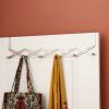 ОРЗ ткань вешалка над дверными стойками 6 крючков расширяемый пальто шарф Главная Ванная комната кухня хранения стойки орз шарф вешалка 5 отверстие кольцо