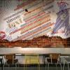 Пользовательский размер Фото Ретро кирпичная стена личность граффити обои молодежь Lounge Bar Cafe Restaurant обои настенная роспись