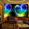 Пользовательские обои 3D Mural Современные простые персонажи Love Heart Dreamland KTV Bar Декоративные обои для рабочего стола Обои для стен 3d