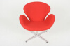 Swan Chair Red (Шерсть-красный)