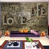 Пользовательские 3D стереоскопические фото обои Mural Retro Brick Pile Wall Living Room Sofa Backdrop Mural Wall Paper Home Improvement flamingo wall mural