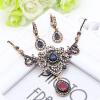 Новый турецкий женский цветок Vintage подвеска ожерелья античный золотой цвет Индия Свадебные богемные свадебные украшения Charm C