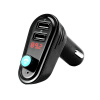 Bluetooth Car Kit Music Player FM Transmitter Modulator 2.1A Dual USB Car Charger Support U Disk with Voltmeter DC 12/24V 3in1 car auto digital led thermometer usb charger cigarette voltmeter 12v 24v 3color g205m best quality