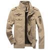 Куртки из хлопчатобумажной куртки Diliba Men Black-Khaki-Army Green куртки goldy куртки