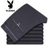 PLAYBOY Playboy мужские случайные брюки свободные черные брюки высокие упругие прямые джинсы Тонкий брюки ребенка падать DH16160008 флота 35