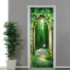 3D обои Китайский стиль Bamboo Grove Scenery Photo Mural Door Sticker Living Room Study Home Decor PVC обои 77cmx200cm aomei 0168 bunny pattern pvc decor toilet sticker black large size