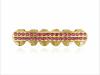 Салли Сюй Хип-хоп Золотые зубы Гриль Топ и нижний гриль Зубная щетка Рот Панк Зубы Шляпы Костюмы Стороны Стоматологические подарки