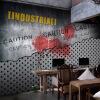Фото обои 3D металлическая сталь обои листовая сталь машины промышленные обои KTV бар ресторан кофейня фреска ресторан кофейня