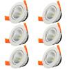 6PCS / lot привело 3W белый свет светодиодный COB чип downlight привело утопленный светодиодный потолочный светильник 6pcs lot привело 3w чистый белый светодиодный cob чип downlight dimmer встраиваемый светодиодный потолочный светильник