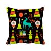 рождество лось белл сани фестиваль площадь бросить подушку включить подушки покрытия дома диван декор подарок лазарева и лось в облаке