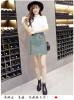 2018 новый кожаный юбка молния карман ретро высокой талии pu юбка обертывание бедра юбка юбка