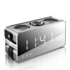 Sony Ericsson (Soaiy) S18 Беспроводной Bluetooth-динамик Зеркало Будильник Телефонная карточка Мини-портативный стерео сабвуфер Креативные часы Coral Gray sony портативный bluetooth динамик