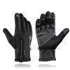 ROCKBROS Велосипедные перчатки Зимние тепловые ветрозащитные теплые полные перчаточные велосипедные перчатки Противоскользящие велосипедные перчатки для мужчин