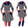 цены на Lovaru ™Новый 2015 мода женские зимние платья осень половины рукав платья просто случайные мини-платье в интернет-магазинах