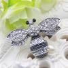 Мода 2 цветных женщин Rhinestone Bee Brooch Animal Jewelry Pin Крыло Насекомые Броши Броши Дамские штыри отворотом Штыри Воротник броши honey jewelry брошь икебана синяя