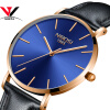 Relogio Masculino 2018 Новые ультра тонкие часы для мужчин Часы Top Brand Luxury Simple Watch Черные кожаные мужские часы Waterproof Saat часы