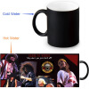 Guns and Rose 350ml/12oz Heat Reveal Mug Color Change Coffee Cup Sensitive Morphing Mugs Magic Mug Milk Tea Cups wars guns and votes