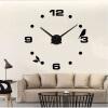 3D настенные часы безрамные Современные зеркальные металлы Большие настенные наклейки Часы настенные часы Room Home Decorations часы настенные proffi home корица