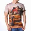 Модные мужские O-образным вырезом кабины Print Pullover T-Shirts насос подъема кабины маз цена в украине