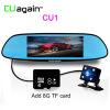 CU1 Mirror DVR 6.5inch Двойная петля для записи объектива Автомобильная камера Обнаружение движения Парковочная камера Видеорегистратор FHD 1080P