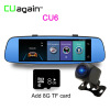 CU6 Smart Dash Cam 4G DVR 8 'Автомобильная GPS-камера с зеркалом для Android Wifi ADAS Bluetooth-видеорегистратор Сенсорный экран DVR Carro cu9 dvr 4g wifi remote video recorder автомобильная камера gps 8 дюймовое зеркало с двумя объективами android dash cam adas safe car registrar