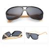 Vintage Bamboo Солнцезащитные очки Мужские деревянные солнцезащитные очки Женские зеркальные очки Личность HD-объектив -черный + серый