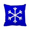 снег Blue Square предупреждающий знак площадь бросить подушку включить подушки покрытия дома диван декор подарок