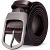 Американский дикий кожаный ремень мужской штырь пряжка мода случайный брючный ремень N71228-2C цвет кофе 105-130CM случайный ремень olio rosti olio rosti mp002xm0yh8e