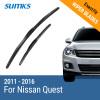 SUMKS Wiper Blades for Nissan Quest 26&19 Fit Hook Arms 2011 2012 2013 2014 2015 2016 for nissan quest 2011 2014 car styling led fog lights front bumper 10w fog lamps 1set