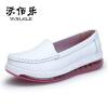 Белые медсестры обувь женская одиночная игра обувь толстая дно XiuXianXie подхватили рубашка ноги подушки-даг обувь XiaoBai туфли
