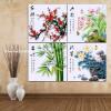 DIY 5D Diamond Мозаика Слива Орхидея Бамбук Хризантема цветы Алмазная живопись Вышивка крестом вышивка