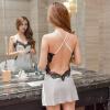 GFM сексуальная шелковая ночная рубашка красивое нижнее белье женское шоу высокое качество ремень маленькая юбка полупрозрачная соблазнительная пижама домашняя служба D6689 белый M код bswish bcurious белый