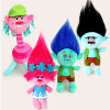 4Pcs/Set 23cm Trolls cartoon movie & tv Figure plush Dolls Trolls doll toys fashion doll children gift in-stock items 6pcs set disney trolls dolls action figures toys popular anime cartoon the good luck trolls dolls pvc toys for children gift