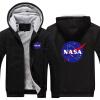 Мужчины Зимние осенние толстовки НАСА Космическая администрация шаблон Руно Пальто Бейсбол Униформа Спортивная одежда Куртка шерст