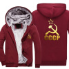 2018 New Unique CCCP Russian Hoodies Men USSR Soviet Union Men Hoodie Moscow Russia Men Tops Thicken Zipper Plus size 2018 new unique cccp russian hoodies men