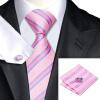 Н-0433 моде мужчины Шелковый галстук набор галстук платок Запонки комплект розовый в полоску мужские галстуки формальный Свадебный бизнес оптом ручка дверная противопожарная dh 0433 производитель fuaro купить в перми