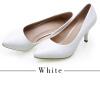 YALNN Модные женские насосы Черные и белые 7 см тонкие высокие каблуки Насосы Кожаная обувь для женщин