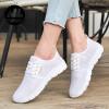 Женская повседневная мода меш Плоская обувь Спортивная обувь кроссовки Женская обувь Студенческая обувь