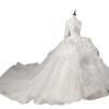 полый назад вышивка элегантный лебедь бальное платье свадебное платье юбка длина может быть настроена бальное платье