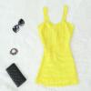 Lovaru ™2015 новых моде сексуальность женщины Bodycon короткие платья конфеты Спагетти ремень повязки бесплатно без рукавов корабль случайно мини-платье