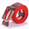 Hot sale unisex canvas belt designer belts men high quality women belts cummerbunds bicyclic buckle elastic stretch fabric