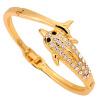 синий кристал винтаж дельфин круг браслеты кристалл позолоченные цепи, браслеты клип о женских украшений