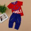 горячая продажа Одежда для мальчика Одежда для мальчиков летняя одежда наборы футболка + брючный костюм Star Printed Clothes 90-140 спортивные костюмы костюмы ivashka костюм парус футболка брюки шапочка
