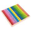Новые деревянные игрушки для детей 10x10 Умножение стола деревянные детские развивающие игрушки раннее детство математика борту операции