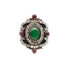 Новые турецкие женщины Vintage Ring Старинные золотые цветные полые цветочные кольца Индийские смолы Finger Jewelry Египетские сва