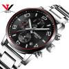 NIBOSI Кварцевые часы Мужчины Мужчины Мужчины Часы Мода Топ бренда Роскошные водонепроницаемые часы Кожаный стальной ремень Мужские часы Кварцевые Movemet кварцевые часы reichenbach часы элитные